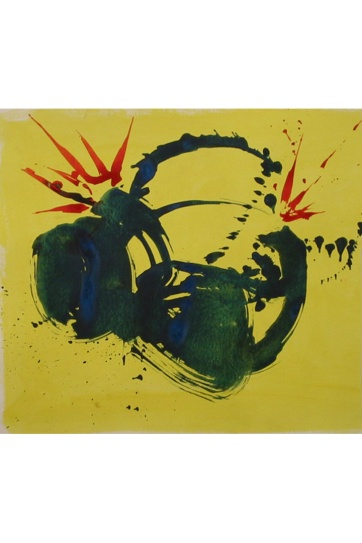 Abstract Yellow, watercolor on paper, 12 by 14 in. Emilia Kallock