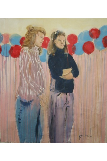 American Girls, acrylic on canvas, 40 by 34 in. Emilia Kallock 2002