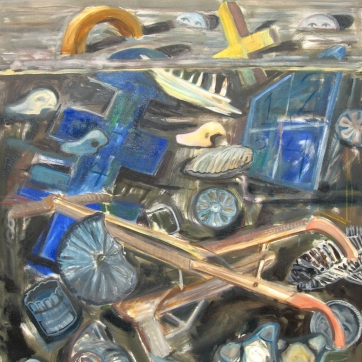 Archaeological Painting, oil on canvas, 56 by 42 in. Emilia Kallock 2008