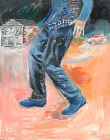 Blue Suede Shoes, oil on canvas, 48 by 35 in. Emilia Kallock 2008