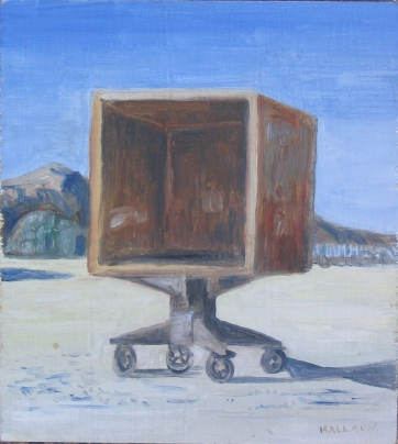 Burning Man 4, oil on board, 6 by 6 in. Emilia Kallock 2006