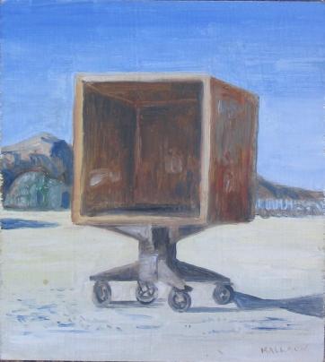 Burning Man 4, oil on board, 6 by 6 in. Emilia Kallock 2006