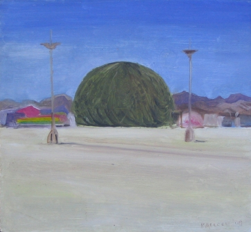 Burning Man 8, oil on board, 6 by 6 in. Emilia Kallock 2006