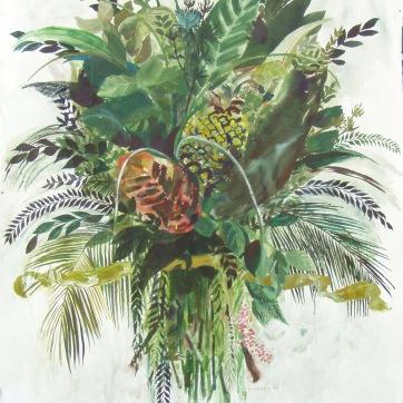 Burst-Foliage, watercolor on paper, 42 by 36 in. Emilia Kallock 2004