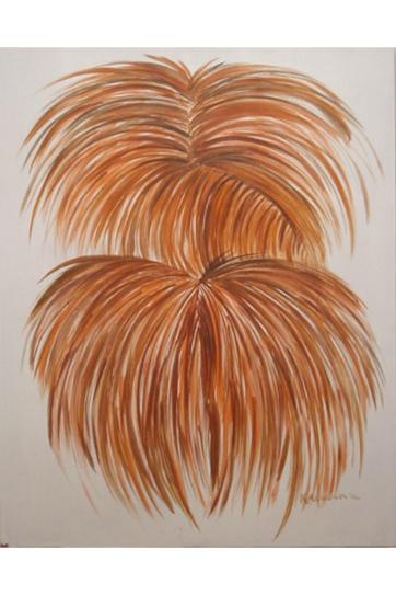 Burst, Onion, acrylic on board, 36 by 29 in. Emilia Kallock 2002