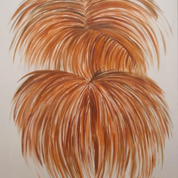 Burst, Onion, acrylic on board, 36 by 29 in. Emilia Kallock 2002