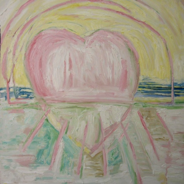 Horizon Heart, oil on canvas, 28 by 22 in. Emilia Kallock 2008