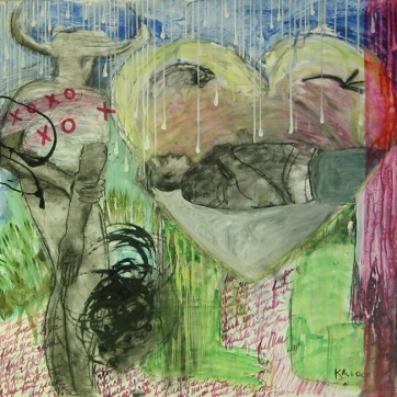 Chapter Over, acrylic and ink on paper, 49 by 53 in. Emilia Kallock 2003