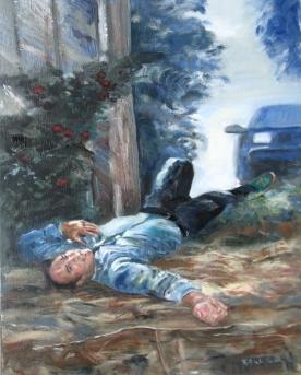 Eagon, oil on canvas, 18 by 14 in. Emilia Kallock 2006