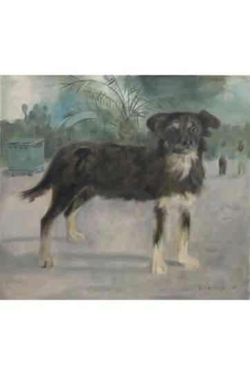 Havana Dog, oil on canvas, 16 by 22 in. Emilia Kallock 2003