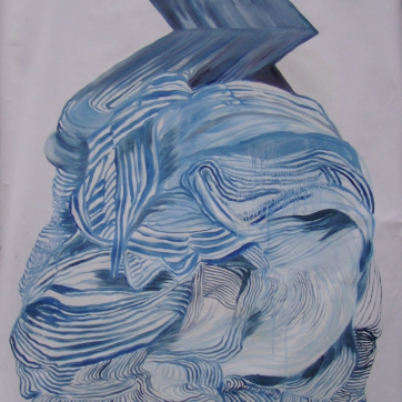 Dynamic Dress, oil on primed paper, 35 by 28 in. Emilia Kallock 2005