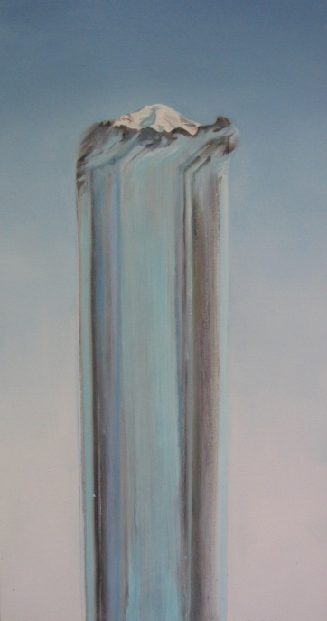 Mountain/Elevation, oil on canvas, 38 by 18 in. Emilia Kallock 2005