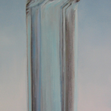 Mountain/Elevation, oil on canvas, 38 by 18 in. Emilia Kallock 2005