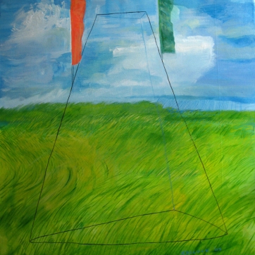 Form and Landscape, oil on canvas, 42 by 36 in. Emilia Kallock 2006