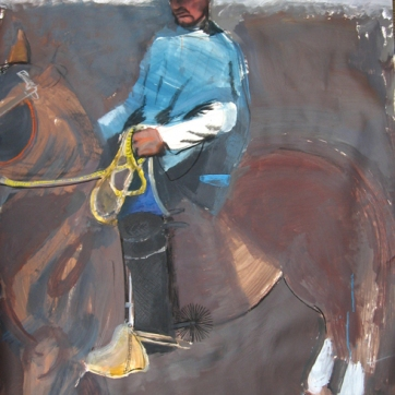 El Gaucho, charcoal and acrylic on paper, 42 by 36 in. Emilia Kallock 2008