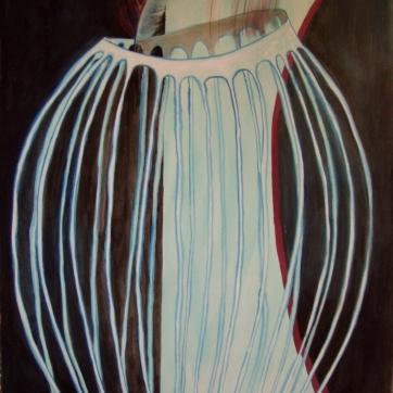 Gazebo Masculine, watercolor on paper, 40 by 29 in. Emilia Kallock 2004
