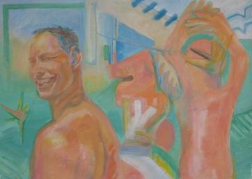 Los Hombres Del Verano, oil on canvas 26 by 34 in. Emilia Kallock 2006