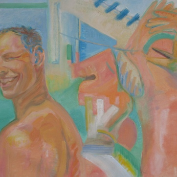 Los Hombres Del Verano, oil on canvas 26 by 34 in. Emilia Kallock 2006