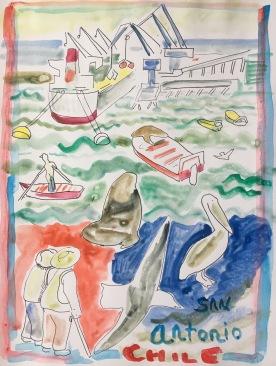 San Antonio, watercolor on paper, 11 by 9 in. Emilia Kallock 2016