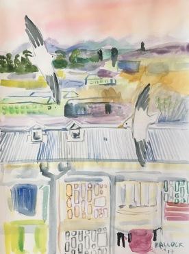 Chile, Belloto 2, watercolor on paper, 11 by 9 in. Emilia Kallock 2017
