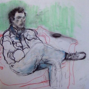 James Keith Smith, charcoal on paper, 20 by 26 in. Emilia Kallock 2002