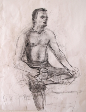 Jimmy 7, charcoal on paper, 8 by 7 in. Emilia Kallock 2013