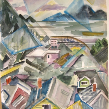 Ketchikan, Alaska 6, watercolor on paper, 12 by 10 in. Emilia Kallock 2009