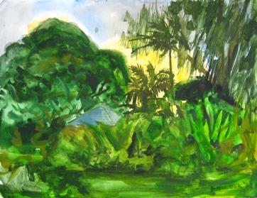 Kikila 3, watercolor on paper, 12 by 16 in. Emilia Kallock 2008