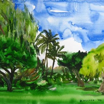 Kikila 4, watercolor on paper, 12 by 14 in. Emilia Kallock 2008