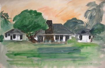 Kikila, watercolor on paper, 12 by 18 in. Emilia Kallock 2008