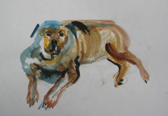 Leboski, watercolor on paper, 6 by 11 in. Emilia Kallock 2006