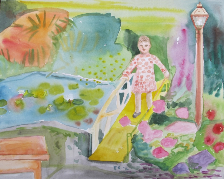 Lily Pond 5, watercolor on paper, 8 by 10 in. Emilia Kallock 2012