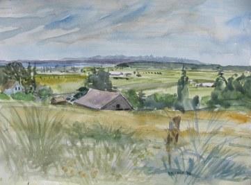 Logen Barn, watercolor on paper, 18 by 24 in. Emilia Kallock 2008