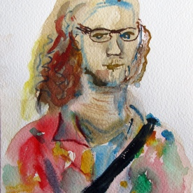 Dave, watercolor on paper, 8 by 6 in. Emilia Kallock 2014