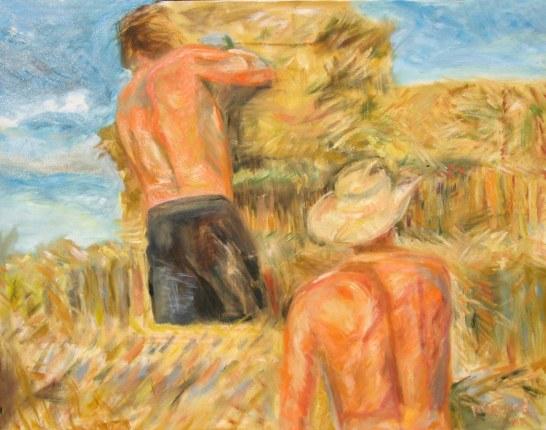 Men Haying, oil on canvas, 28 by 36 in. Emilia Kallock 2008