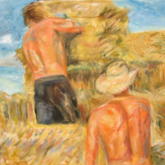 Men Haying, oil on canvas, 28 by 36 in. Emilia Kallock 2008