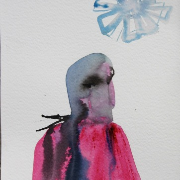 Mood Sketch 2, watercolor on paper, 8 by 5 in. Emilia Kallock 2006