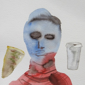 Mood Sketch 3, watercolor on paper, 8 by 5 in. Emilia Kallock 2006