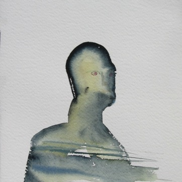 Mood Sketch 4, watercolor on paper, 8 by 4 in. Emilia Kallock 2006