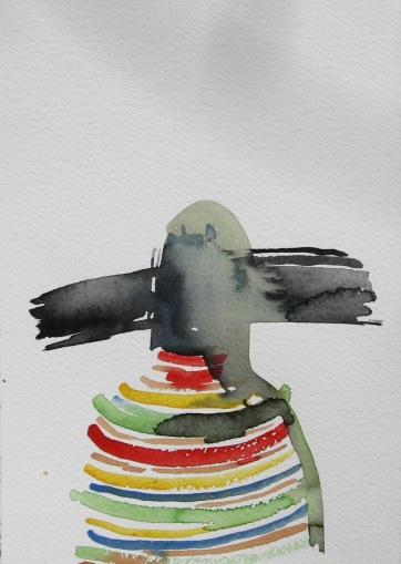 Mood Sketch 5, watercolor on paper, 8 by 5 in. Emilia Kallock 2006