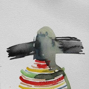 Mood Sketch 5, watercolor on paper, 8 by 5 in. Emilia Kallock 2006