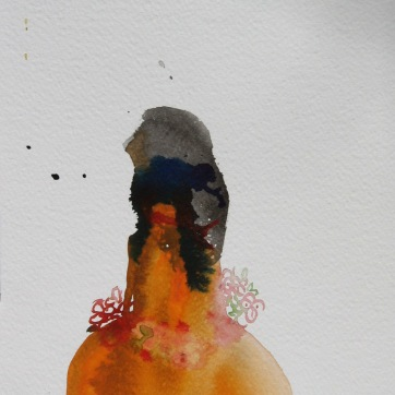 Mood Sketch 8, watercolor on paper, 8 by 5 in. Emilia Kallock 2006