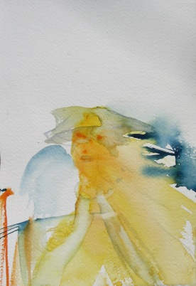 Mood Sketch 9, watercolor on paper, 8 by 5 in. Emilia Kallock 2006