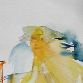 Mood Sketch 9, watercolor on paper, 8 by 5 in. Emilia Kallock 2006