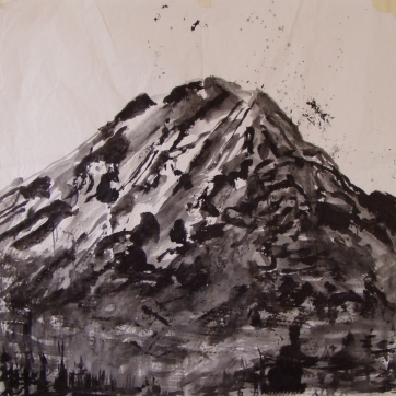 Mt. Adams, acrylic on paper, 40 by 40 in. Emilia Kallock 2004