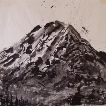 Mt. Adams, acrylic on paper, 40 by 40 in. Emilia Kallock 2004