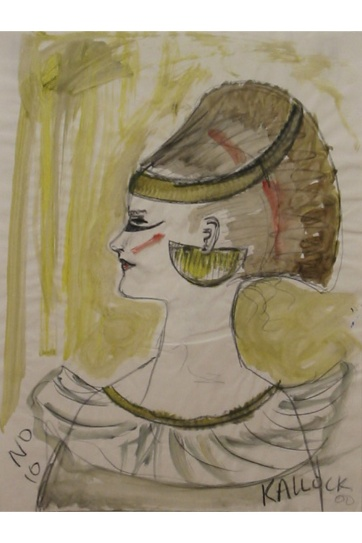 Muse 10, watercolor on paper, 32 by 22 in. Emilia Kallock 2002