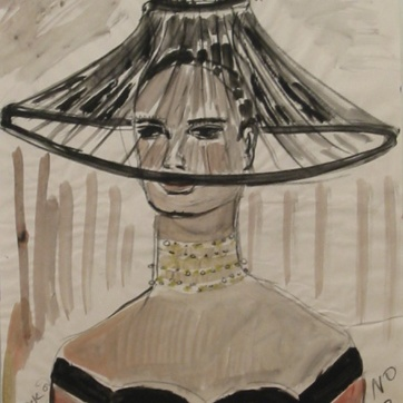 Muse 12, watercolor on paper, 32 by 22 in. Emilia Kallock 2002