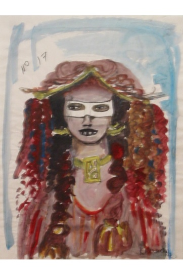Muse 17, watercolor on paper, 32 by 22 in. Emilia Kallock 2002