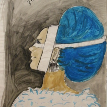 Muse 30, watercolor on paper, 32 by 22 in. Emilia Kallock 2002